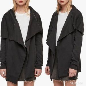 All Saints Dahlia Sweatshirt in Dark Gray